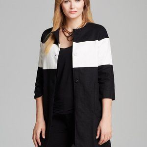 Melissa Masse Modern Linen Coat NWT Size 0X